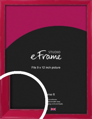 Gloss Poppy Red Picture Frame, 9x12