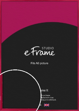 Gloss Poppy Red Picture Frame, A0 (841x1189mm) (VRMP-330-A0)