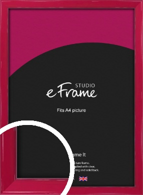 Gloss Poppy Red Picture Frame, A4 (210x297mm) (VRMP-330-A4)