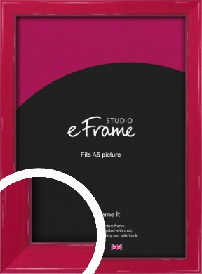 Gloss Poppy Red Picture Frame, A5 (148x210mm) (VRMP-330-A5)
