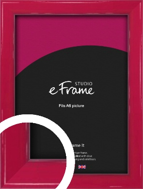 Gloss Poppy Red Picture Frame, A6 (105x148mm) (VRMP-330-A6)