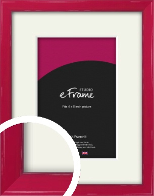 Gloss Poppy Red Picture Frame & Mount, 4x6