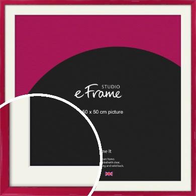 Gloss Poppy Red Picture Frame & Mount, 50x50cm (VRMP-330-M-50x50cm)