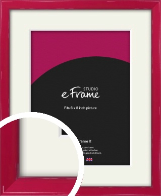 Gloss Poppy Red Picture Frame & Mount, 6x8
