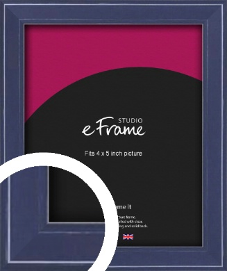 High Gloss Oxford Blue Picture Frame, 4x5