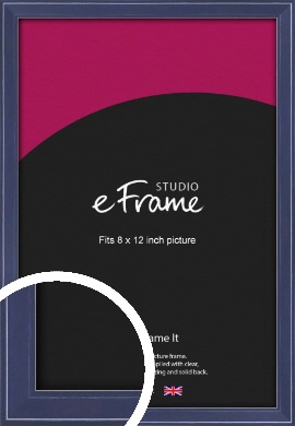 High Gloss Oxford Blue Picture Frame, 8x12