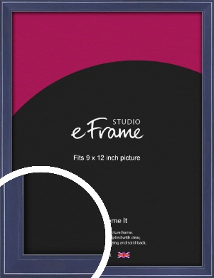 High Gloss Oxford Blue Picture Frame, 9x12