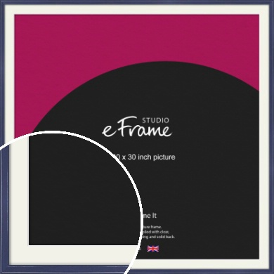 High Gloss Oxford Blue Picture Frame & Mount, 30x30