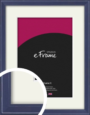 High Gloss Oxford Blue Picture Frame & Mount (VRMP-328-M)