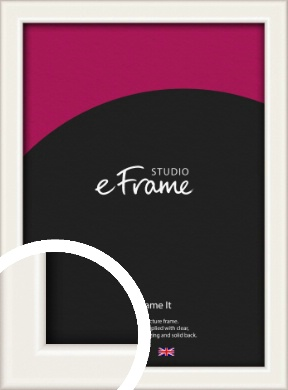 Narrow High Gloss White Picture Frame (VRMP-769)