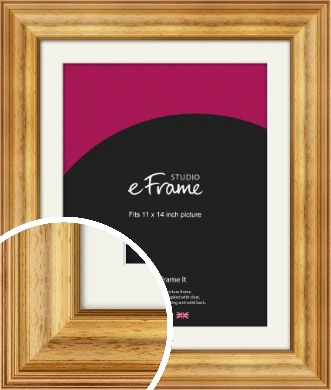 Chunky Gold Picture Frame & Mount, 11x14