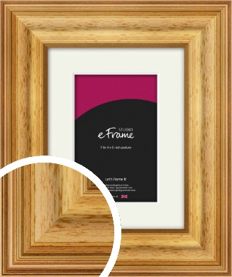 Chunky Gold Picture Frame & Mount, 4x6