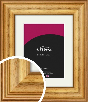 Chunky Gold Picture Frame & Mount, 6x8