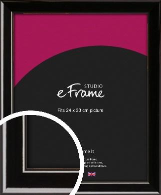 High Shine Black Picture Frame, 24x30cm (VRMP-774-24x30cm)