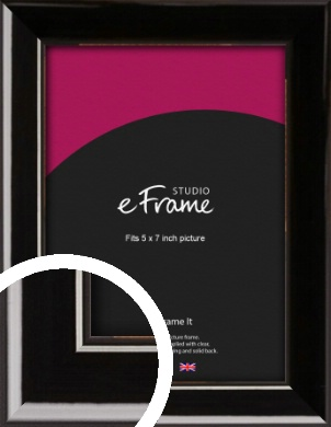 High Shine Black Picture Frame, 5x7