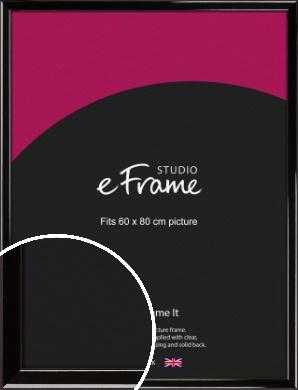 High Shine Black Picture Frame, 60x80cm (VRMP-774-60x80cm)