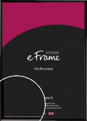 High Shine Black Picture Frame, A0 (841x1189mm) (VRMP-774-A0)