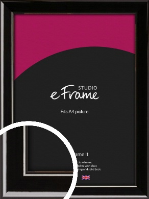 High Shine Black Picture Frame, A4 (210x297mm) (VRMP-774-A4)
