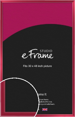 High Gloss Cherry Red Picture Frame, 30x48