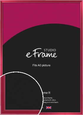 High Gloss Cherry Red Picture Frame, A0 (841x1189mm) (VRMP-772-A0)