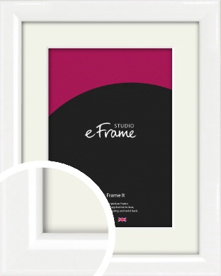 Lacquered Vivid White Picture Frame & Mount (VRMP-771-M)