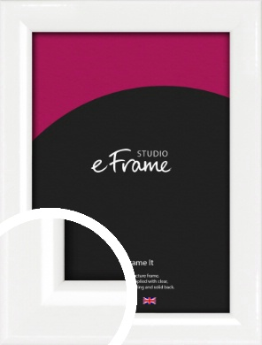 Lacquered Vivid White Picture Frame (VRMP-771)