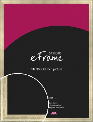 Red Undertone Leaf Silver Picture Frame, 36x48