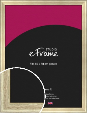 Red Undertone Leaf Silver Picture Frame, 60x80cm (VRMP-660-60x80cm)