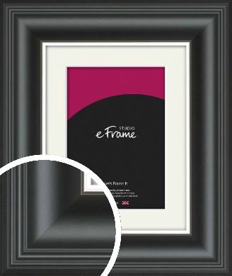 Timeless Silver & Black Picture Frame & Mount (VRMP-1207-M)