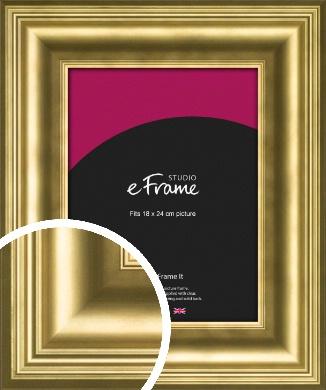 Chic Gold Picture Frame, 18x24cm (VRMP-1208-18x24cm)