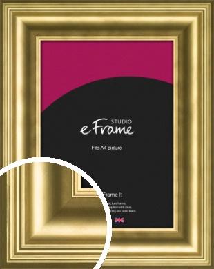 Chic Gold Picture Frame, A4 (210x297mm) (VRMP-1208-A4)