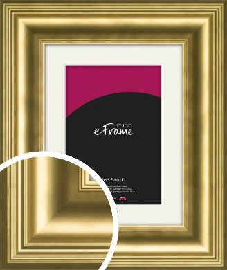 Chic Gold Picture Frame & Mount (VRMP-1208-M)