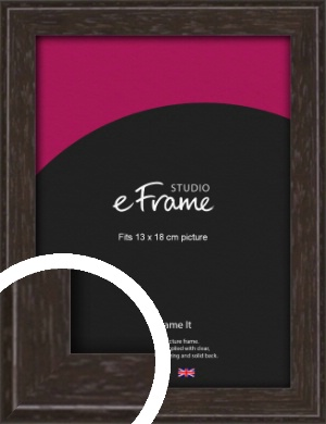Deep Bevel Mocha Brown Picture Frame, 13x18cm (5x7