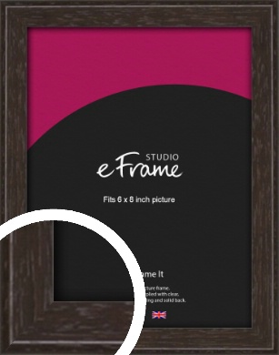 Deep Bevel Mocha Brown Picture Frame, 6x8