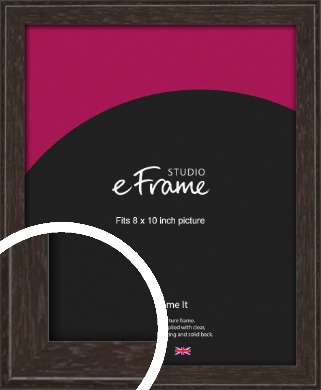 Deep Bevel Mocha Brown Picture Frame, 8x10