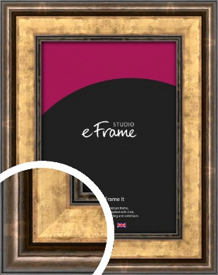 Charming Rustic Gold Picture Frame (VRMP-134)