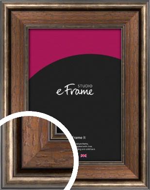 Dark Rustic Brown Picture Frame (VRMP-175)