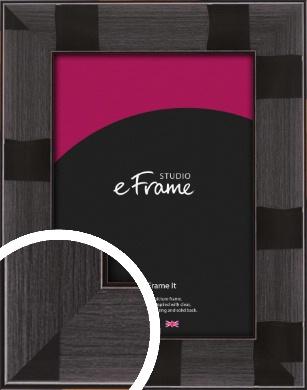 Repeating Metallic Patterned Black Picture Frame (VRMP-259)
