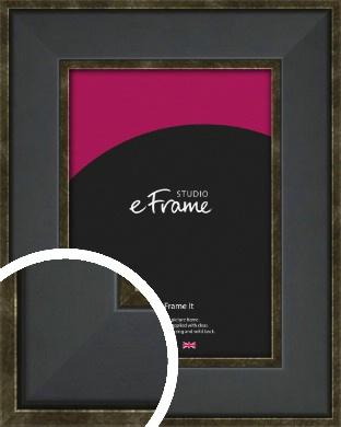 Contrasting Gold & Black Picture Frame (VRMP-1215)