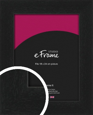 Gallery Style Grained Black Picture Frame, 18x24cm (VRMP-1217-18x24cm)