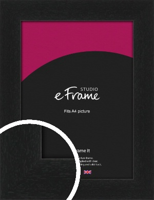 Gallery Style Grained Black Picture Frame, A4 (210x297mm) (VRMP-1217-A4)