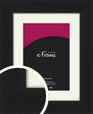 Gallery Style Grained Black Picture Frame & Mount (VRMP-1217-M)
