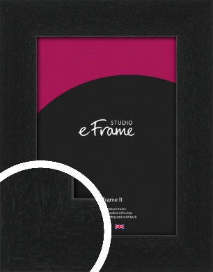 Gallery Style Grained Black Picture Frame (VRMP-1217)