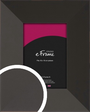 Ultra Simple Wide Black Picture Frame, 10x15cm (4x6