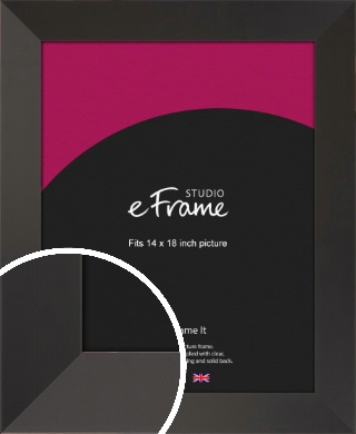 Ultra Simple Wide Black Picture Frame, 14x18