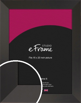 Ultra Simple Wide Black Picture Frame, 15x20