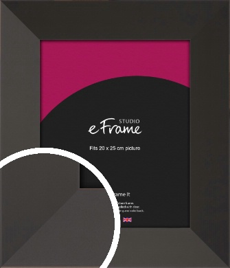 Ultra Simple Wide Black Picture Frame, 20x25cm (8x10