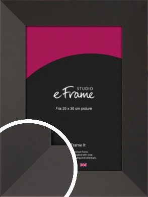 Ultra Simple Wide Black Picture Frame, 20x30cm (8x12