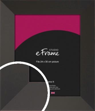 Ultra Simple Wide Black Picture Frame, 24x30cm (VRMP-732-24x30cm)