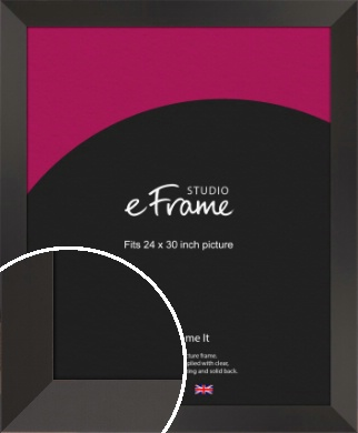 Ultra Simple Wide Black Picture Frame, 24x30